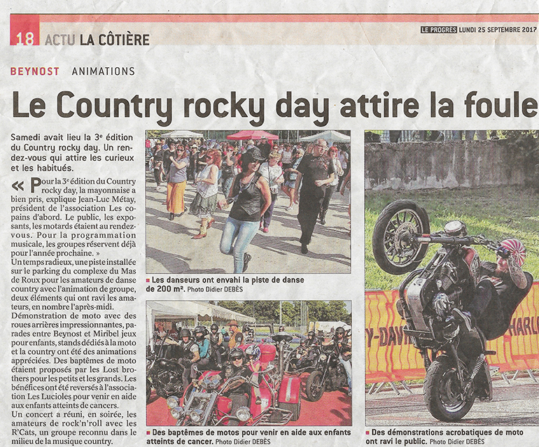 Article de presse country rocky day